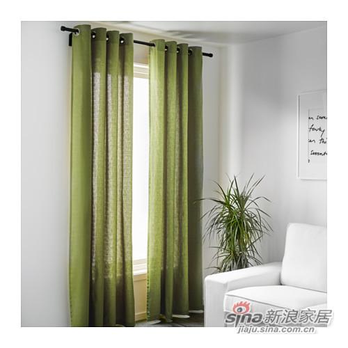 马瑞姆绿色清新窗帘-1