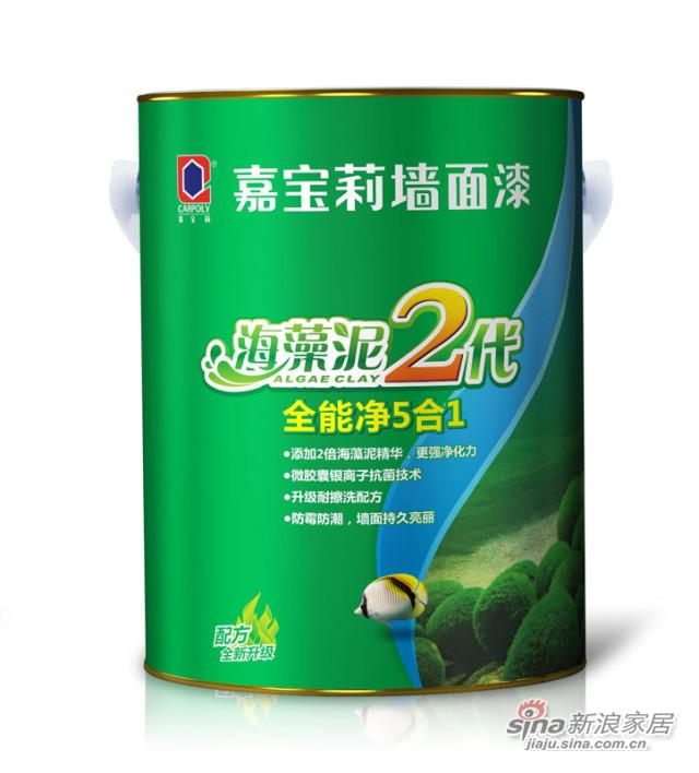 海藻泥2代全能净5合1墙面漆