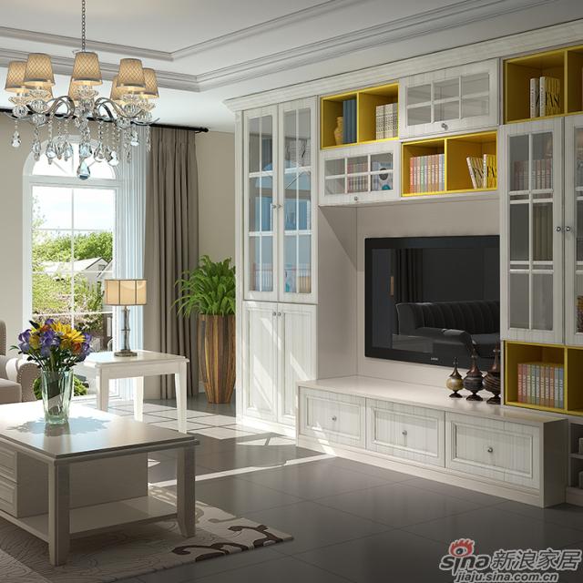 简欧客厅空间:动感的格子游戏图片