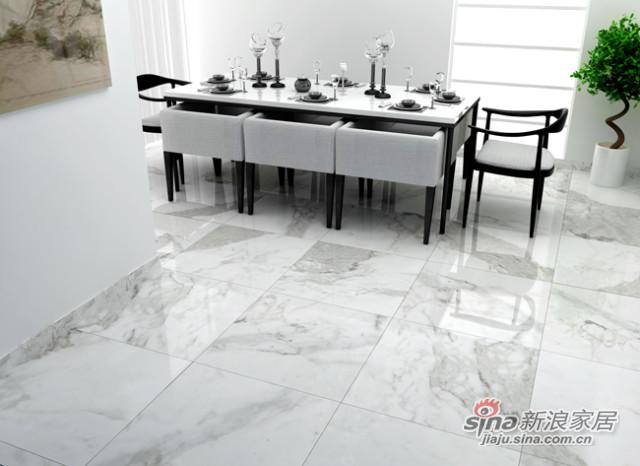 兴辉瓷砖金刚釉·魔石\1SM802020F 雅典白 White Marble