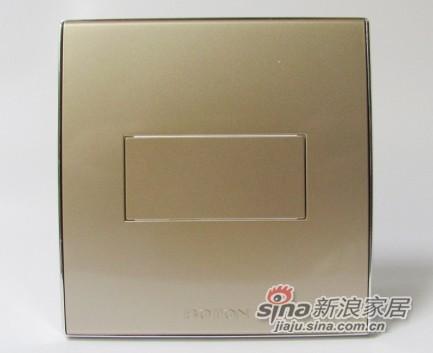 博顿电器2V系列—香槟金空白面板
