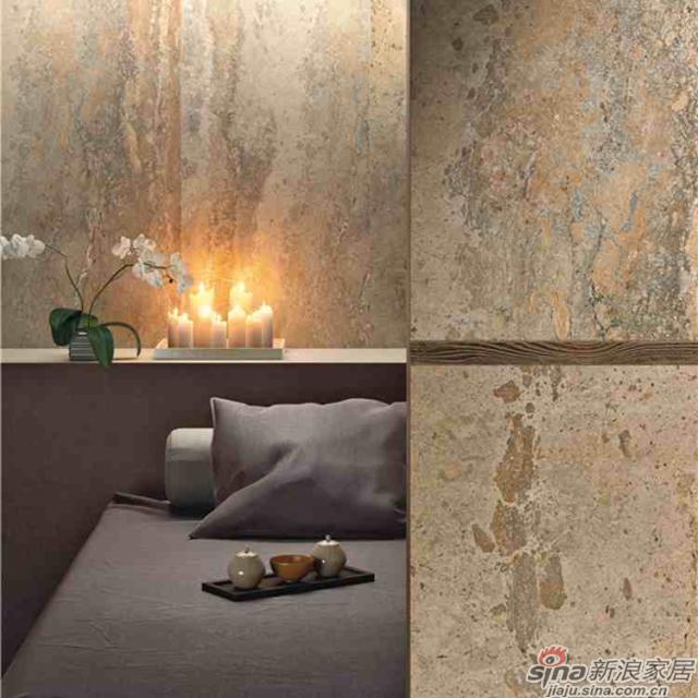 将石材纹理如同奢侈品一般装点呈现,华美大气、气势磅礴。<br><center><b>【工艺品质】</center></b>1200度以上的高温烧制能使釉料充分分解  ,窑变呈现出最佳颜色,同时1200度高温也使得砖坯能达到高硬度。