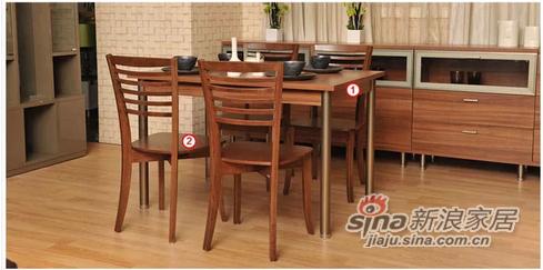 红苹果简易板式餐桌