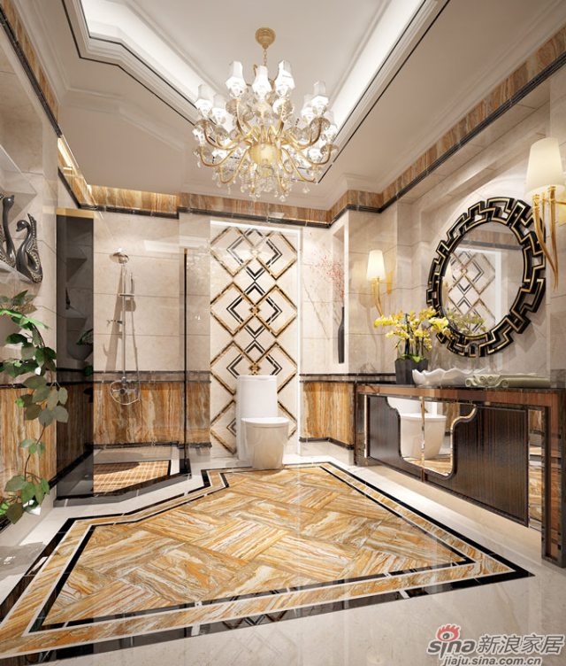 特地大理石瓷砖-法国流金