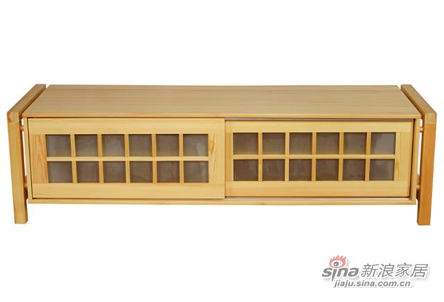 艾森木业名松屋松木系列全实木电视柜-2
