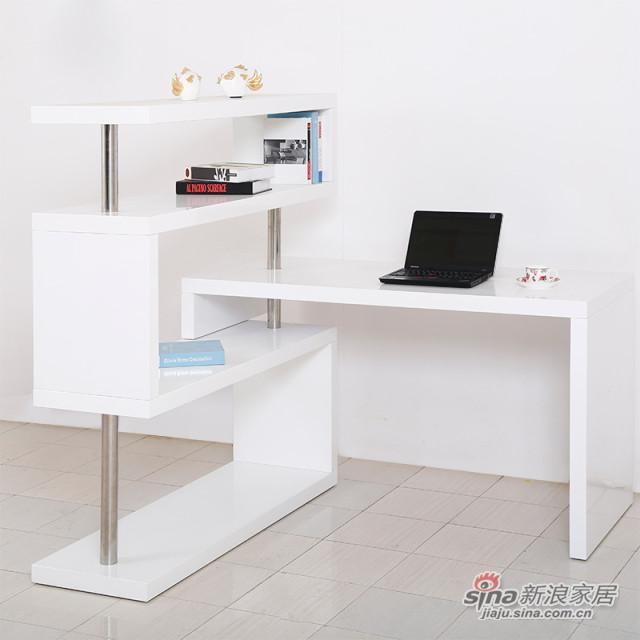红星美凯龙时尚烤漆连体转角柜儿童书桌柜书房组合