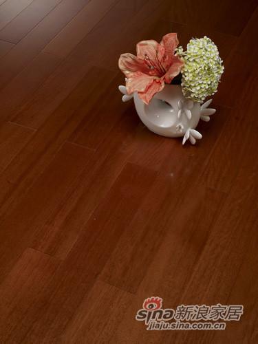 【永吉地板】实木晶砂面——(唐木)盘龙眼 黄花梨色