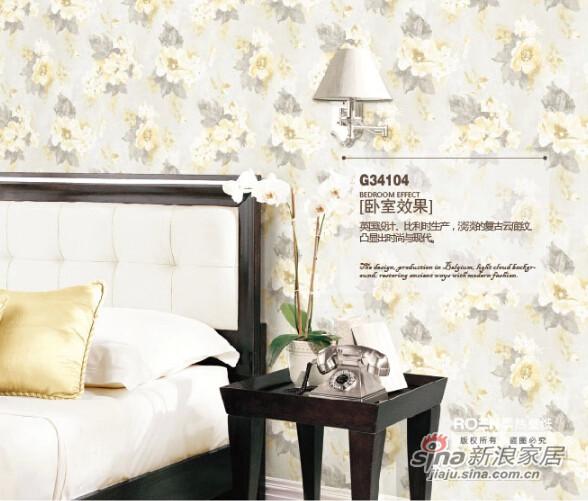 柔然壁纸英国设计水墨花瓣比利时无纺墙纸-1
