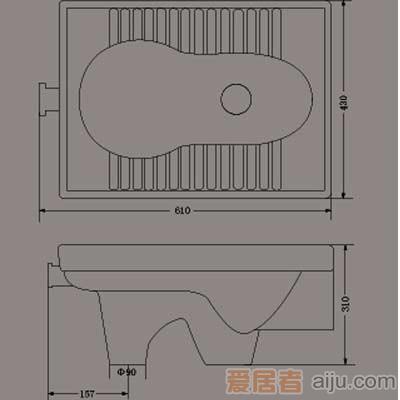 惠达蹲便器-HD3产品价格_图片_报价