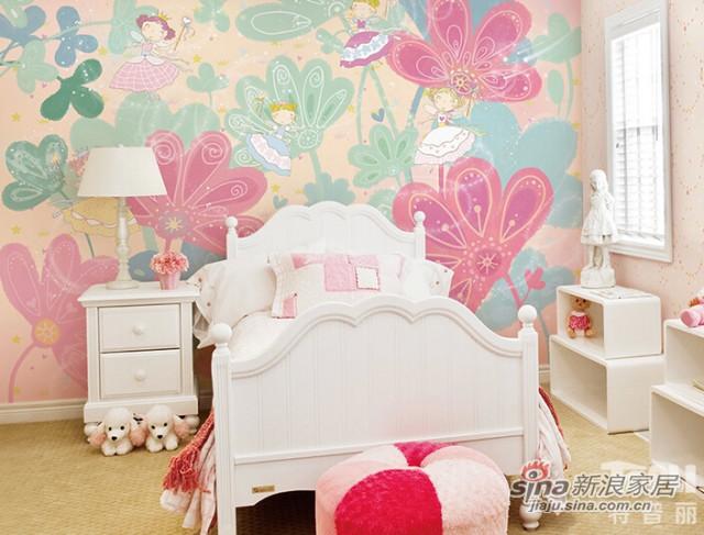 特普丽 儿童壁纸卡通小仙女梦幻公主房
