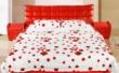 景上家居红色真皮软床
