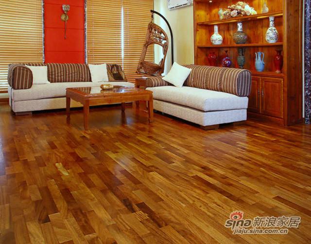 得高karelia三层实木地板 三拼绿柄桑-3
