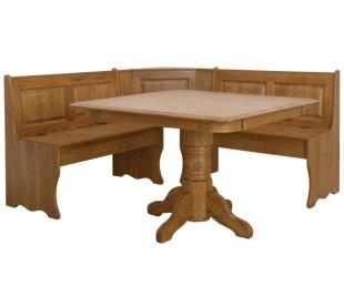 欧式/美式 实木家具 亚美尼亚美式橡木转角早餐桌图片