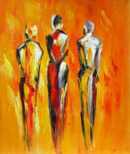 抽象人物画 手绘油画