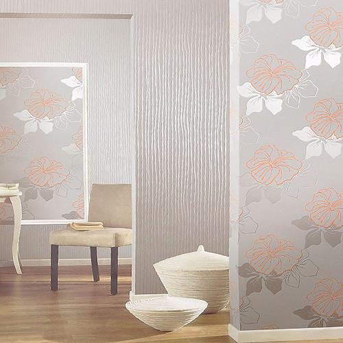 旺涯新中式风格墙纸 壁纸ab0309高档植绒材质舒适柔软图片