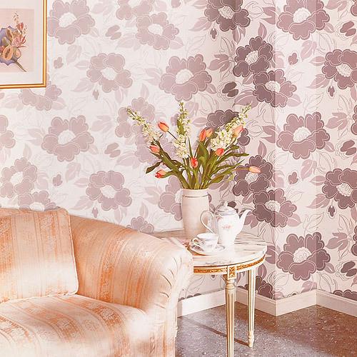 旺涯新中式风格壁纸 温馨素雅水墨凸凹暗花aa1029 客厅背景墙纸图片