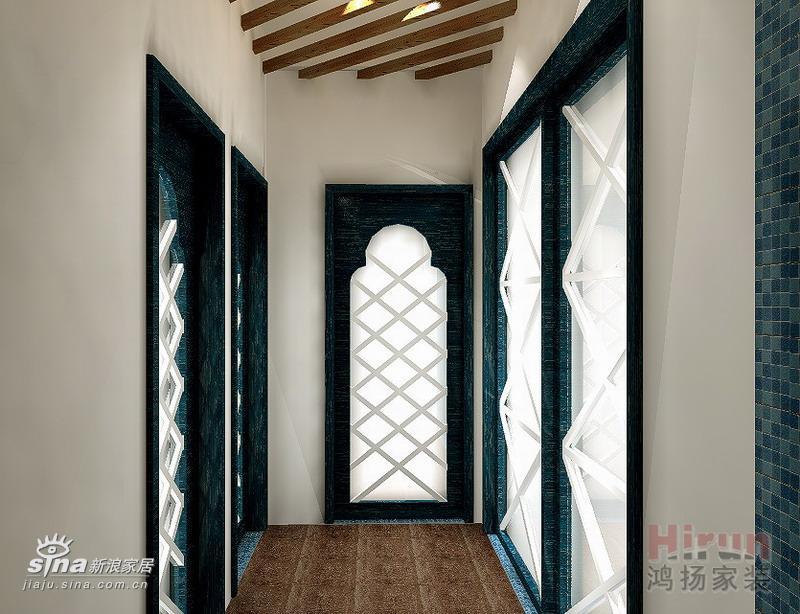 过道门的设计与天花衫木条的设计高清图片