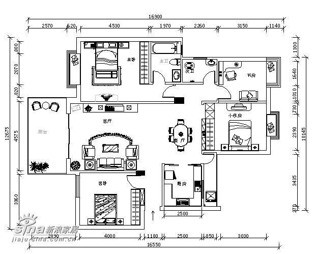 因此我想设计个内楼梯上去,请各位高  这是我家三楼的平面图,方向是上图片