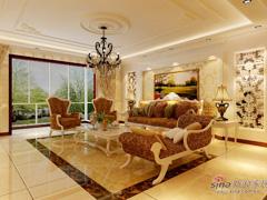 金色漫香苑190平米简欧风格四居室设计图鉴赏