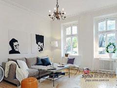 白领88平北欧风格现代之家