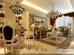 120�O复式精致三居室经典欧式风格