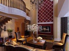 星杰国际设计40万装200�O别墅新古典风格