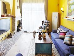 【多图】色彩碰撞的理想情人地中海3居