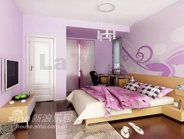 交换空间卧室改造_样板间 黄紫交换空间 卧室