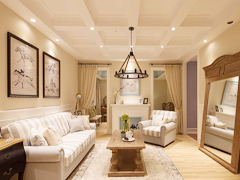 【多图】95平美式温馨舒适居