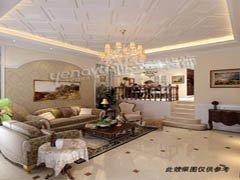 【多图】50万打造国耀紫溪270平米别墅新古典低调奢华