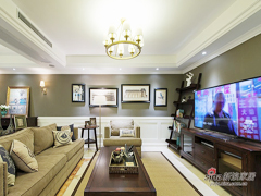 【高清】129平美式舒适大气3居室