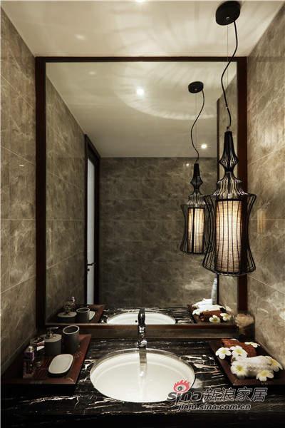 卫生间的灯好美