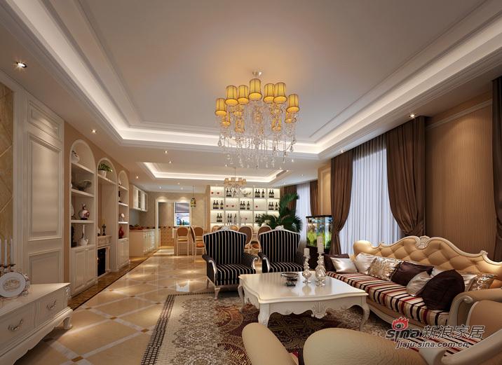 幸福五口家庭19万装修简约欧式世爵源墅
