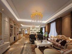 幸福五口家庭19万装修简约欧式世爵源墅260平米六居室案例
