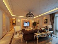 中年夫妇舒适安静17万装修欧式首邑溪谷170平米三居室图