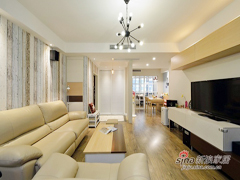 【高清】135平自然清新现代3居室