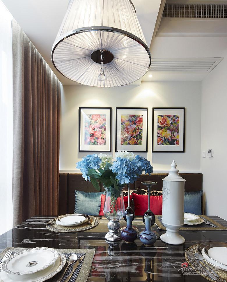 样板间 【高清】86平现代港式风情两居室 餐桌椅  价格:/件 品牌图片