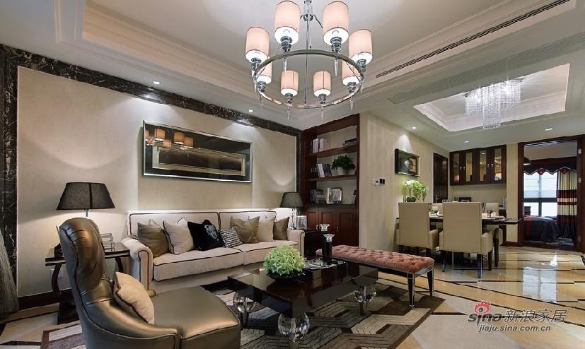 时尚新古典风格二室一厅样板房 高清图片