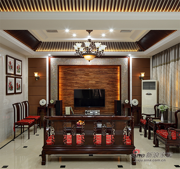 中式家具欧式灯混搭