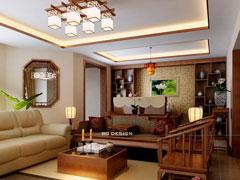 远洋一方,大三居中式古典装修案例