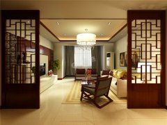 140�O-三室一厅一卫-新中式风格