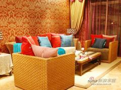 红色风情东南亚古典3居