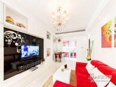 【高清】96平玫瑰红现代风格婚房