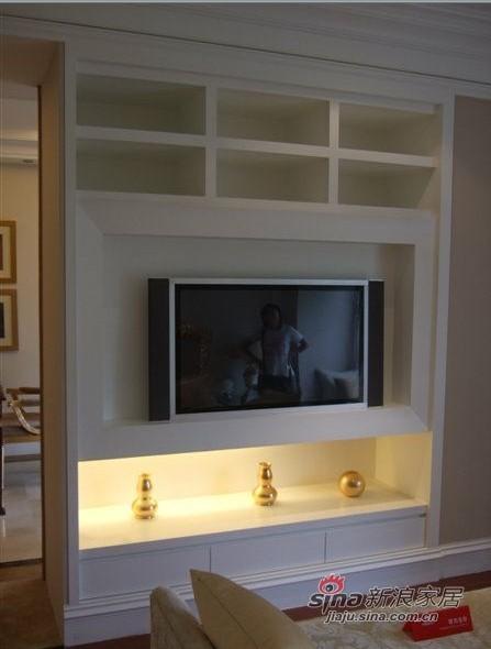 镶嵌式的电视柜图片