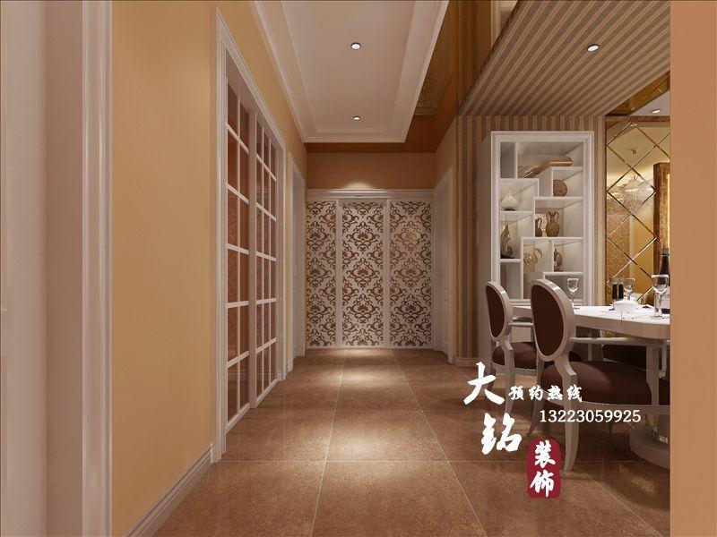 简欧风格家庭装修 昆明正商新蓝钻小区简欧式住宅设计  高清图片