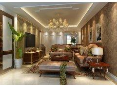 【上海实创装饰】打造90平两居室美式风格装修效果图