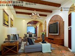 青岛实创装饰打造-正阳东郡166平米-古朴自然美式风格温馨美宅