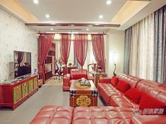 【高清】157平中国红传统中式3居