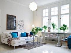 北欧风格的白色精致小户型装修