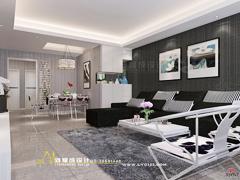【高清】12.6万装108灰色空间现代简约三房两厅